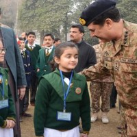 General Raheel Meet Children