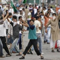 In occupied Kashmir, Protest