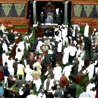 India Parliament Opposition Protest