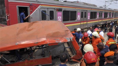 Indonesia Bus Train Accident