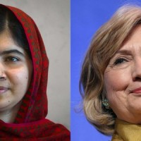 Malala Yousafzai and Hillary Clinton