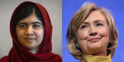 Malala Yousafzai and Hillary Clinton