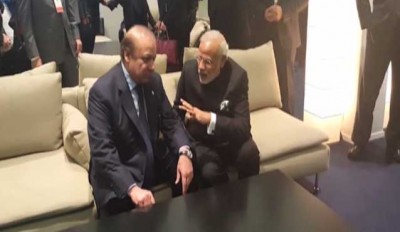 Narendra Modi and Nawaz Sharif Meeting