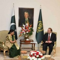 Nawaz Sharif and Sushma Swaraj Meeting