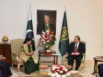 Nawaz Sharif and Sushma Swaraj Meeting
