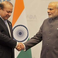 Nawaz and Modi Handshake