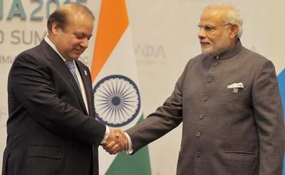 Nawaz and Modi Handshake