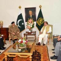 Nawaz and Raheel Sharif Meeting