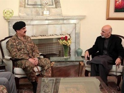 Raheel Shareef and  Ashraf Ghani Meeting