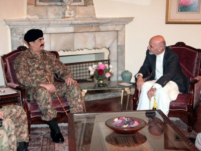 Raheel Sharif with Ashraf Ghani