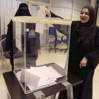 Saudi Elections Women Voting