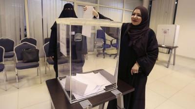 Saudi Elections Women Voting
