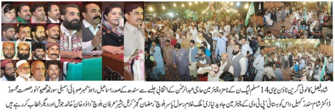 Shah Faisal Colony PML N Meating