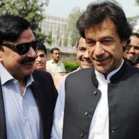 Sheikh Rasheed and Imran Khan