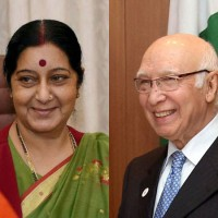 Sushma Swaraj and Aartaz Aziz