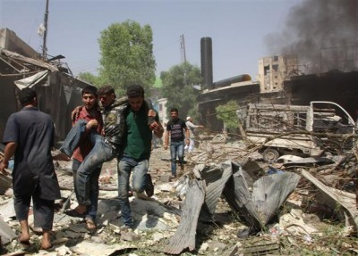 Syria Government Forces Bombing
