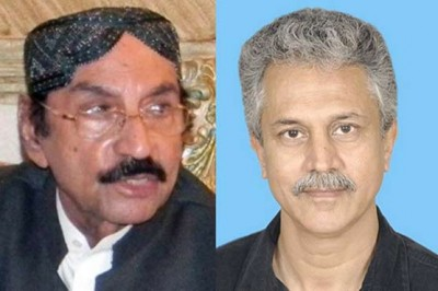 Wasim Akhtar and Qaim Ali Shah