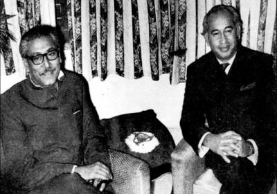 Zulfikar Ali Bhutto and Sheikh Mujibur Rahman