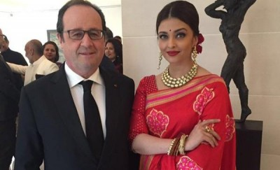 Aishwarya Rai and French President