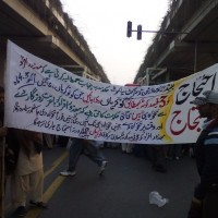 Blind Peopls Protesting