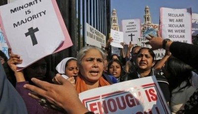 Christians Protest in India