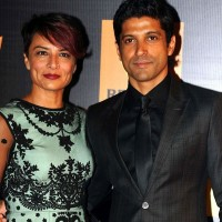 Farhan Akhter with Wife