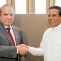 Maithripala Sirisena and Nawaz Sharif