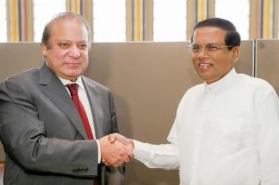 Maithripala Sirisena and Nawaz Sharif