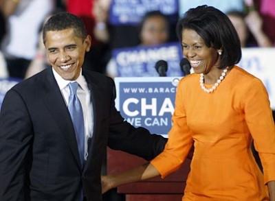 Obama with Michelle Obama