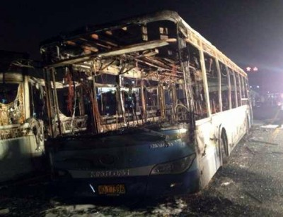 Passenger Bus Fire