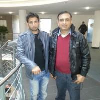 Raja Mujahaid Jarraal with Friend