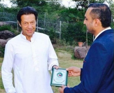 Shoaib Anjum and Imran Khan