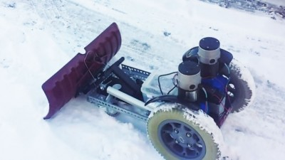 Snow Removal Work Robot