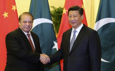 Xi Jinping and Nawaz Sharif