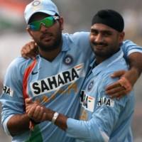 Yuvraj and Harbhajan Singh
