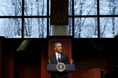 Barack Obama Mosque Visit