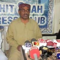 Bhit Shah thahim bradri k Ghulam Qadir Thahim Press Confrance