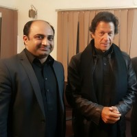 Chaudhry Ahmed Mukhtar and Imran Khan
