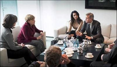 Clooney  Angela Markel