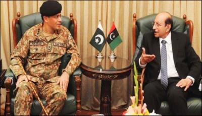 General Naveed Mukhtar And Qaim Ali Shah