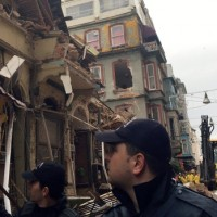Istanbul Building Collapsed