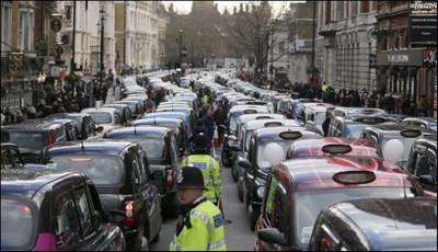London Taxi Drivers Protest