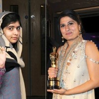 Malala and Sharmeen Obaid Chinoy