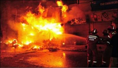 Mardan Fire 5 Dead