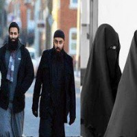 Muslim Man and Girls