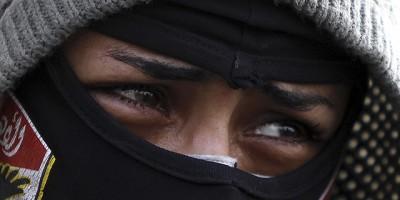 Muslim Woman Crying
