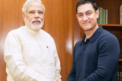 Naredra Modi and Aamir Khan