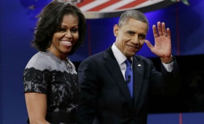 Obama With Wife