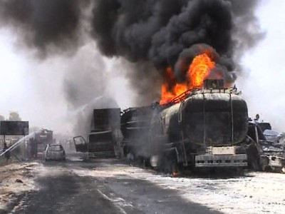Oil Tanker and Trailer Collision