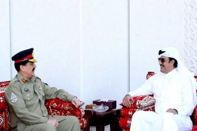 Raheel Sharif and Sheikh Tamem